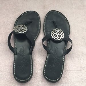 Brighton sandal black and silver size 10